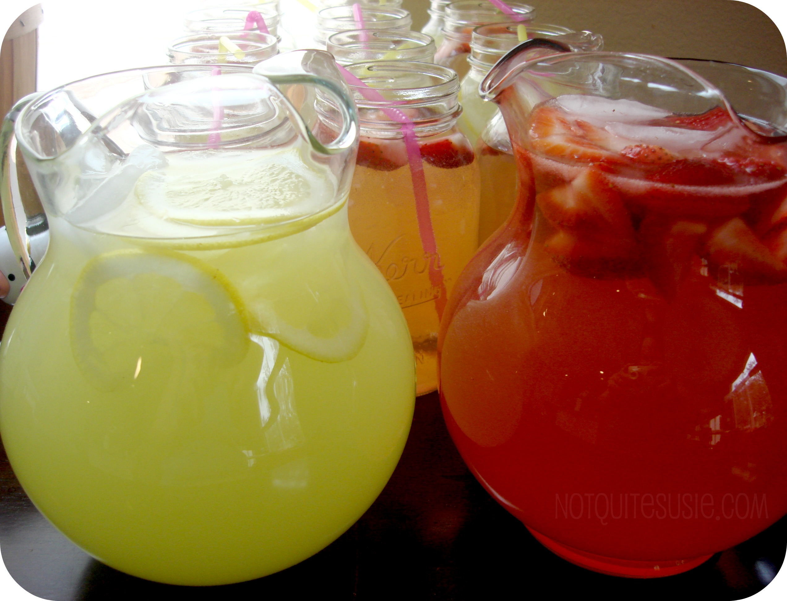 Pitcher Of Lemonade Pouring