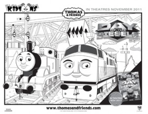 kidtoons giveaway thomas friends trackmaster cranky flynn coloring pages - Thomas Friends Coloring Pages