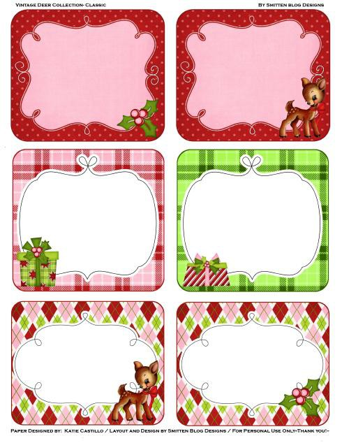 image about Free Printable Christmas Name Tags called DECK THE Vacations: SOME Cost-free PRINTABLE Xmas Reward TAGS