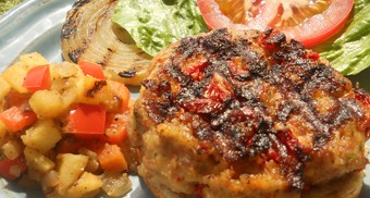 Turkey Burger with Onion-Apple Relish