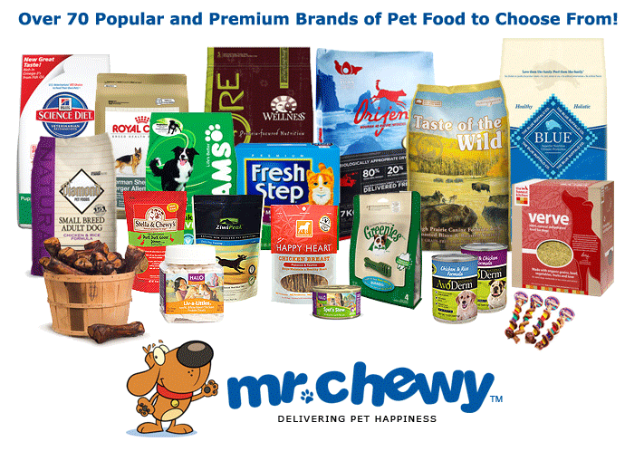 Save Money on Pet Food with Mr. Chewy!