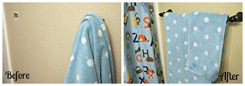 Towel Bar Before and After