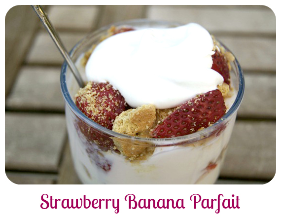 strawberry banana Cool-Whip-Parfait