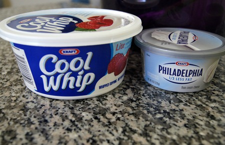 Dirt Pie Ingredients Cool Whip and Cream Cheese