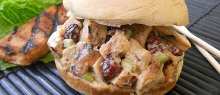 Teriyaki Chicken and Cranberry Salad Sandwich by Nutrisystem