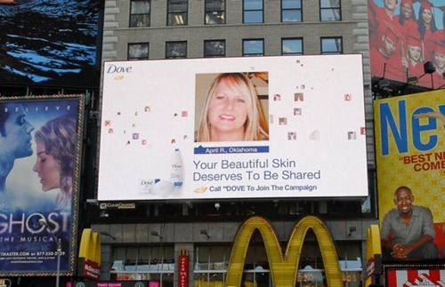 Dove Times Square Billboard