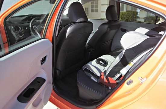Prius c interior backseat