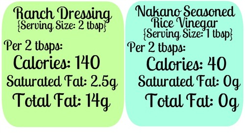 Ranch Dressing vs Rice Vinegar