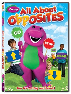 barney all about opposites dvd cover