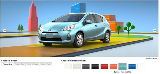 prius c colors