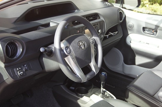 prius c interior