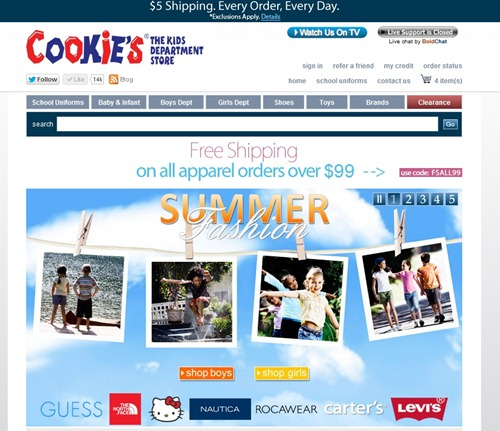 Shopping for Summer Clothing at #CookiesKids