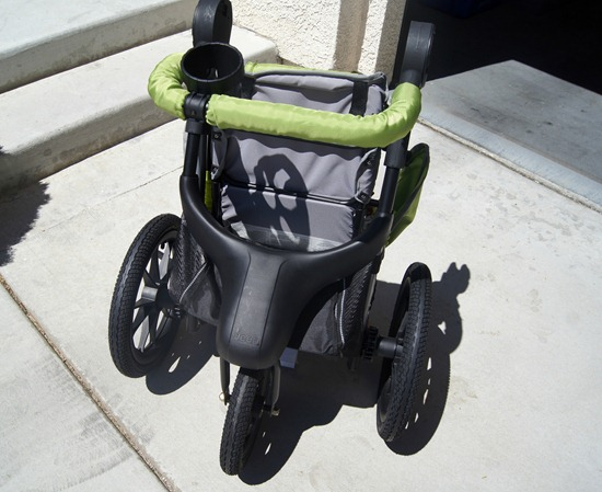 J is for Jeep Jogging Stroller folded