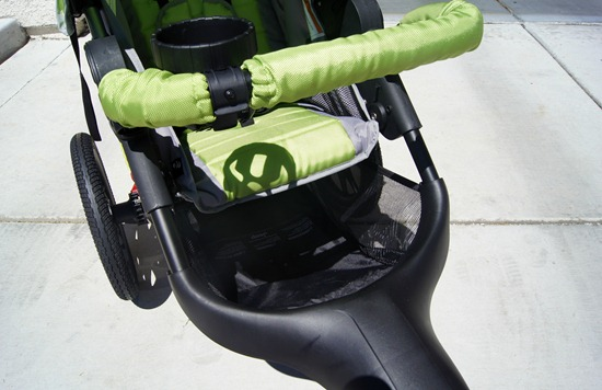 J is for Jeep Jogging Stroller under storage