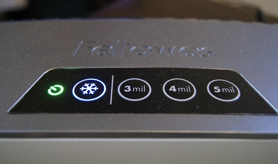 fellowes laminator cool setting