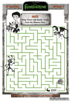 frankenweenie monster pet maze