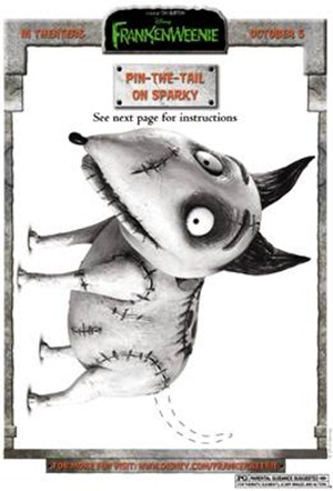 frankenweenie pin the tail activity