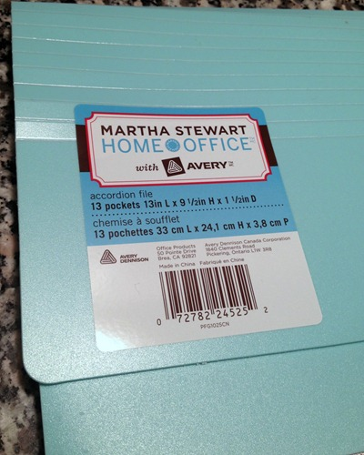 Martha Stewart Home Office Accordion File