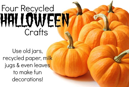 Recycled Halloween craft decorations