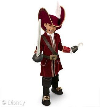 captain hook boys costume disney halloween