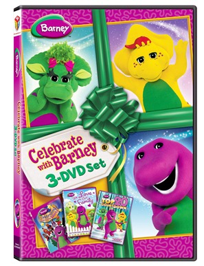 celebrate with barney dvd set