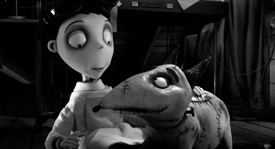 """FRANKENWEENIE""   (L-R) VICTOR and SPARKY. ..""Frankenweenie"" is a new stop-motion, animated comedy from the creative genius of director Tim Burton.  Presented by Walt Disney Pictures, ""Frankenweenie"" opens in theaters on October 5, 2012.  ..©2012 Disney Enterprises. All Rights Reserved."