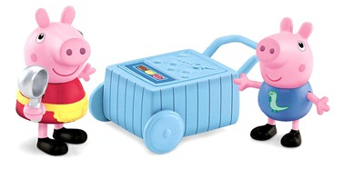 peppa pig figure ice cream cart