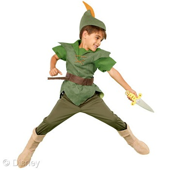 peter pan boys costume disney store halloween