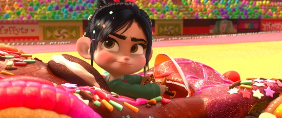 """WRECK-IT RALPH""   (Pictured) VANELLOPE VON SCHWEETZ in the video game world of Sugar Rush. ©2012 Disney. All Rights Reserved."