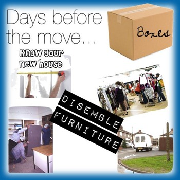 what to do days before you move