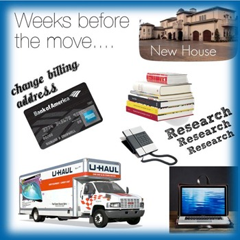 what to do weeks before you move