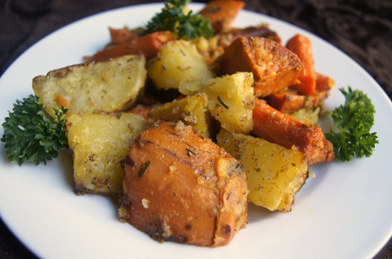 Recipes: Roasted Veggies and Apple Cranberry Dressing