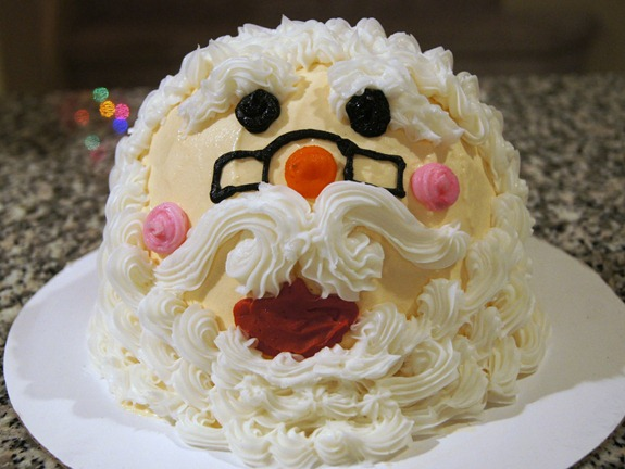 Baskin Robbins Santa Cake