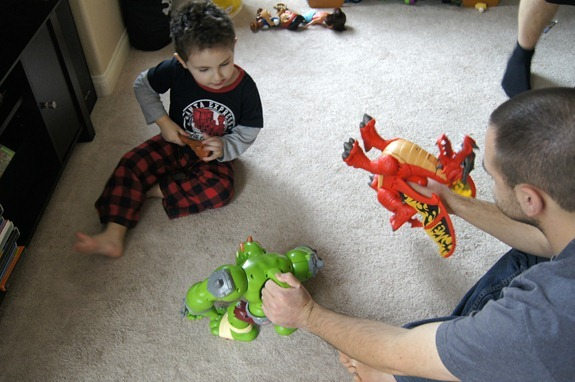 Imaginext Dragon and Ogre