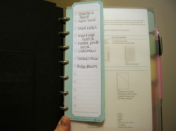 Martha Stewart Task Notebook