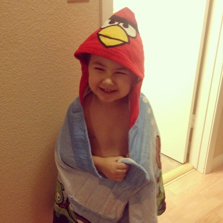 angry birds towel