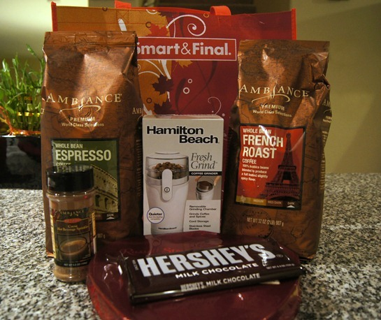 smart and final coffee and chocolate gift basket giveaway