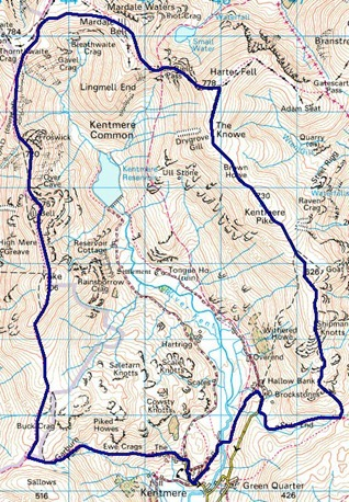 kentmere map
