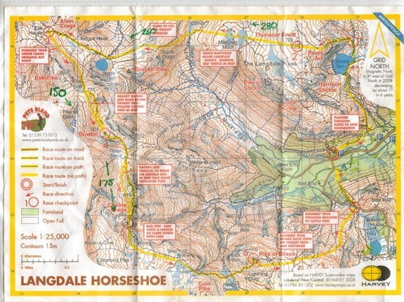 langdale horseshoe map