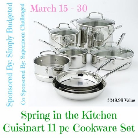 Cuisinart 11-pc cookware set giveaway