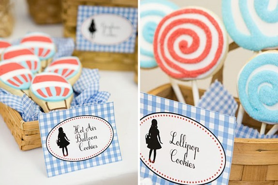 Hot Air Balloon Cookies and Lollipop Cookies- Ultimate Oz Party
