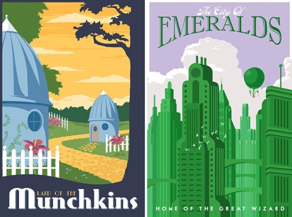 Oz Inspired Travel Poster Decor- Ultimate Oz Party