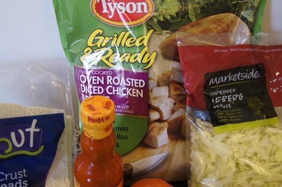 Buffalo Chicken Flatbread Ingredients featuring Tyson #GrilledAndReady