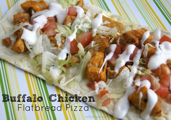 Buffalo Chicken Flatbread Pizza by @NotQuiteSusie #GrilledAndReady