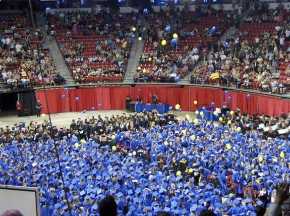 Graduation 2013 Balloons Cascading