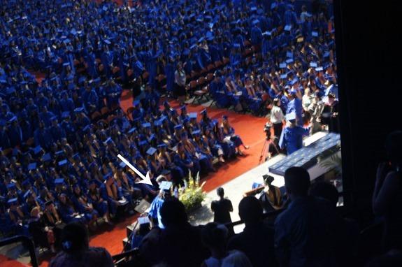 Graduation Walking to Get Diploma