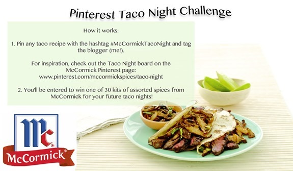 pinterest taco giveaway challenge