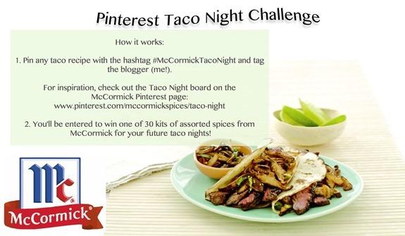 pinterest taco giveaway challenge
