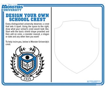Monsters University- Design Your School Crest