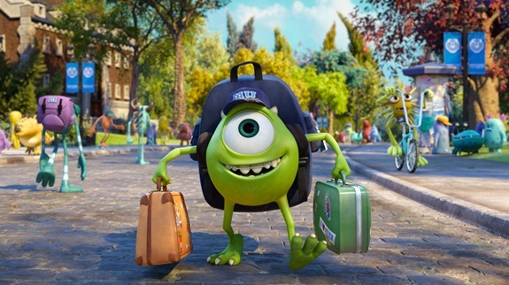 Monsters University- Mike Goes to School